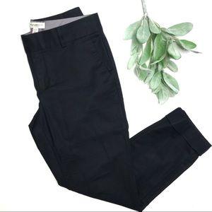BANANA REPUBLIC | sz 2 black cuff Martin crop pant